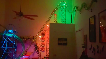 Bored Guy Builds 13-Foot Tall Roller Coaster in His Apartment Amid Quarantine