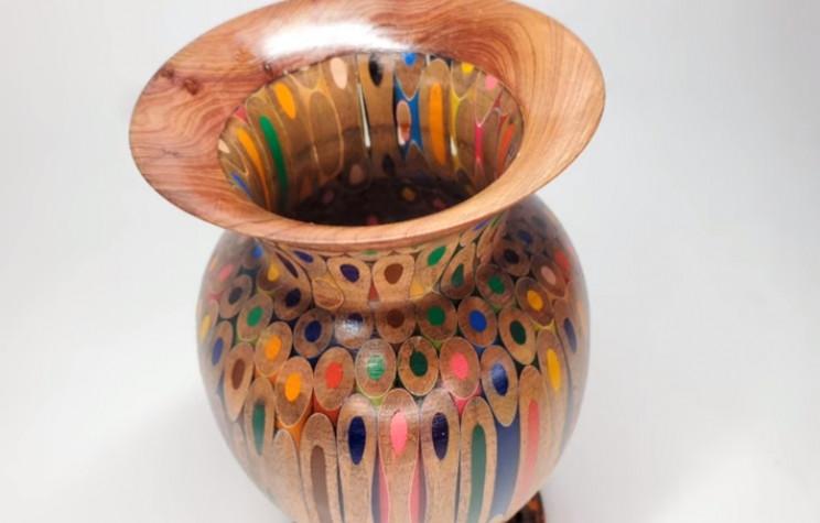 diy pencil vase complete