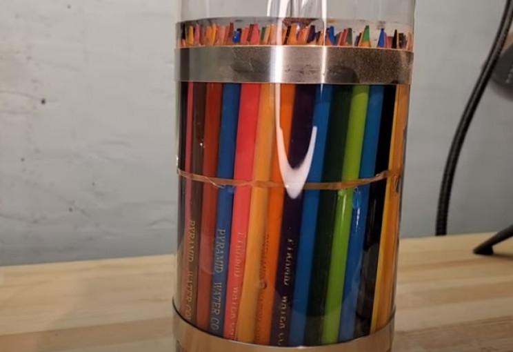 diy pencil vase cylinder
