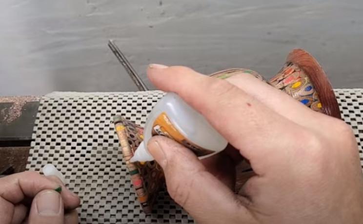 diy pencil vase spot repairs