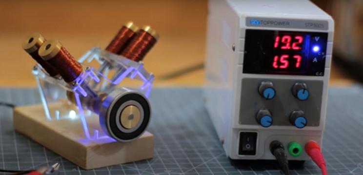 diy solenoid motor complete