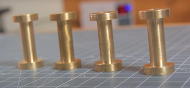 solenoid v4 engine brass rods
