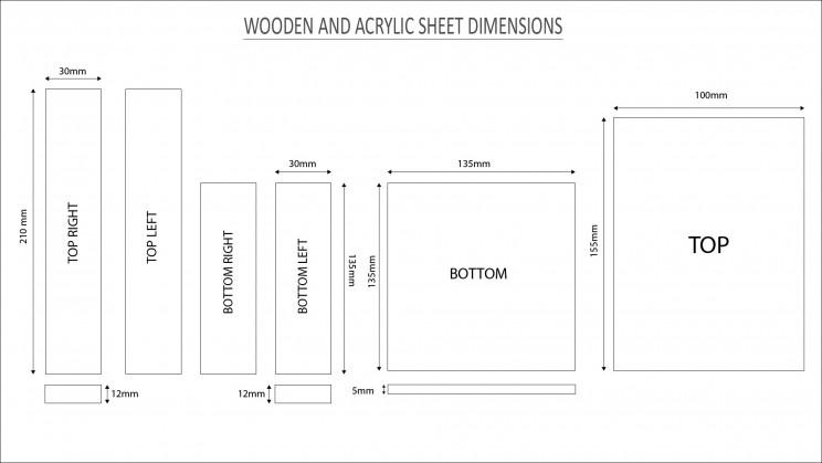 3d printer wooden block dimensions