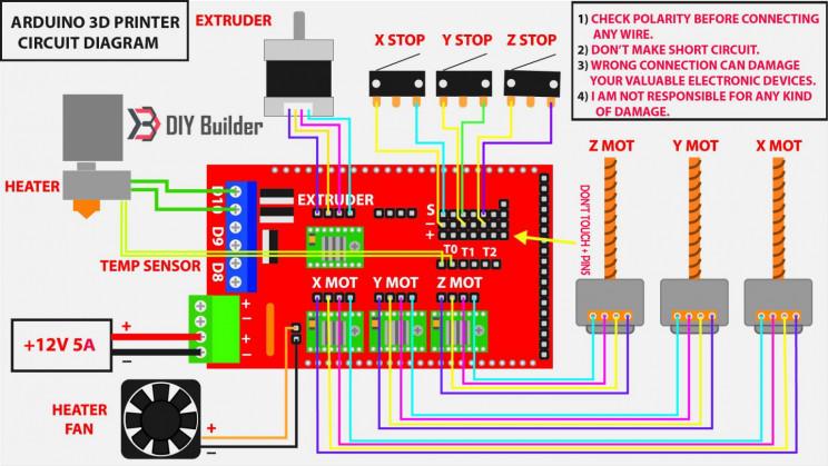 arduino printer circuit diagram