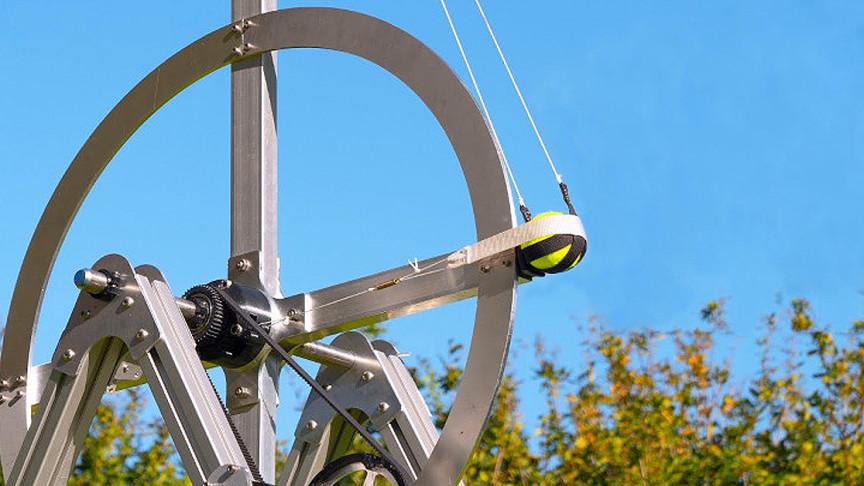 Engineer's Flywheel Trebuchet Can Toss Tennis Balls At 180 MPH