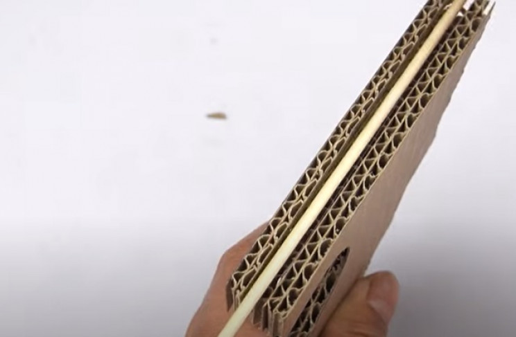 diy cardboard tommy gun front grip