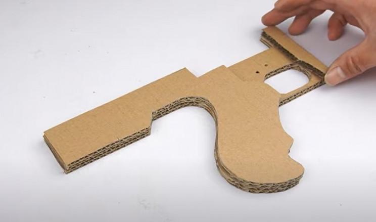 cardboard tommy gun grip