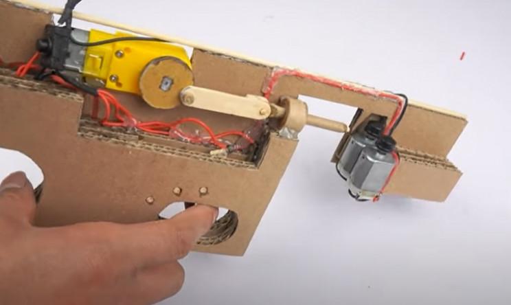 diy cardboard tommy gun dry fire