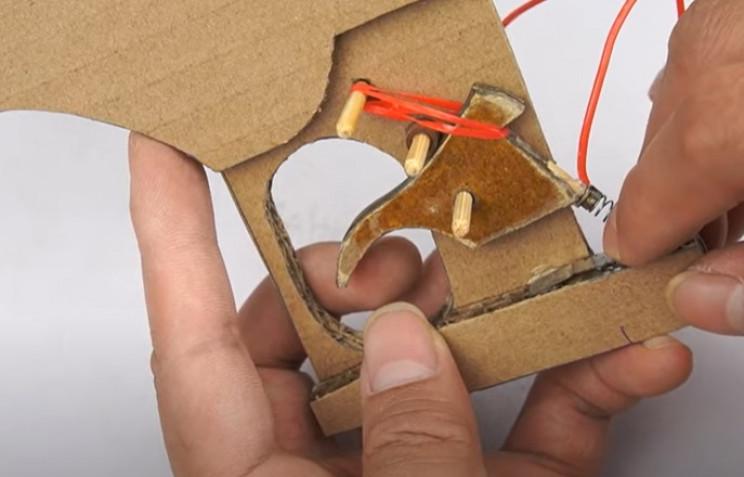 diy cardboard tommy gun trigger plate