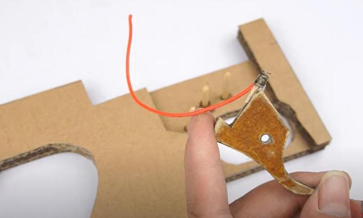 diy cardboard tommy gun trigger