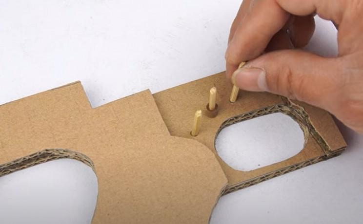 diy cardboard tommy gun wooden skewers