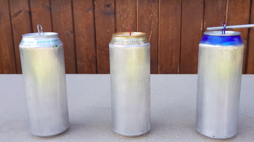 Secret Plastic in Aluminum Cans Revealed through This Funky Experiment