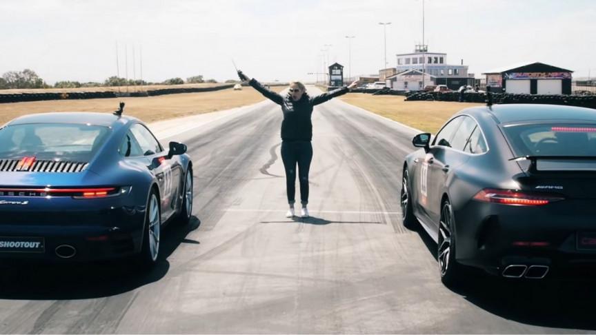 Mercedes vs. Porsche; Coolest Drag Race Ever