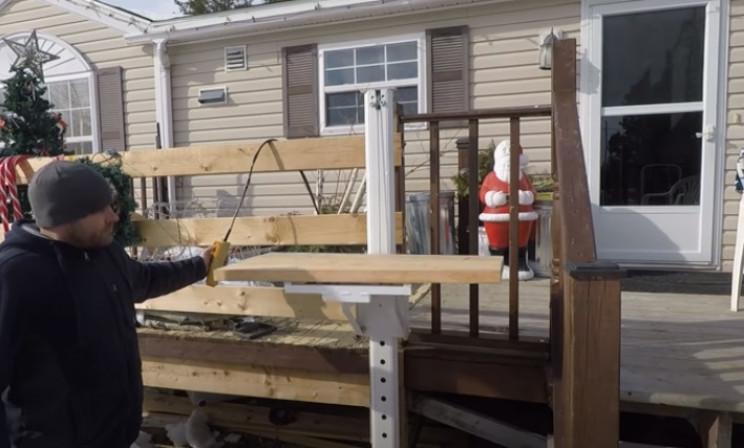 diy porch lift working