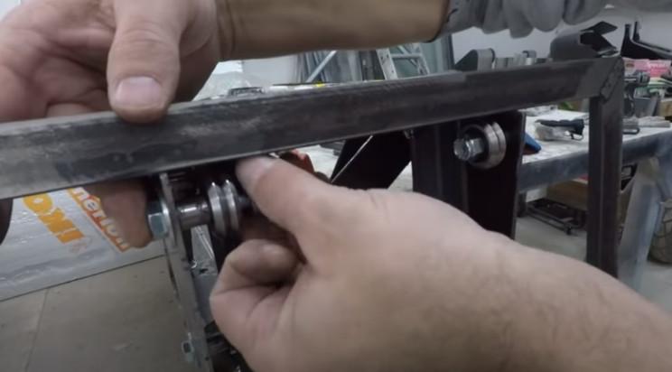 diy porch lift frame and bearings