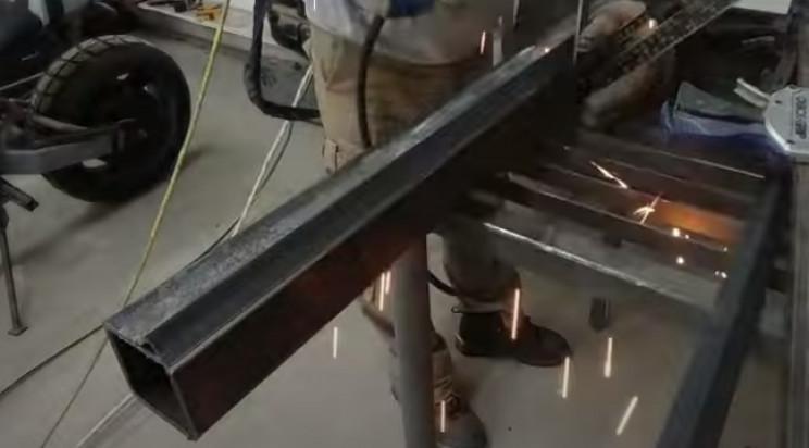 diy stairlight weld angled steel