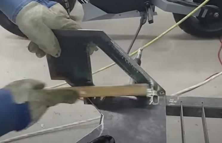 diy stairlift weld steel