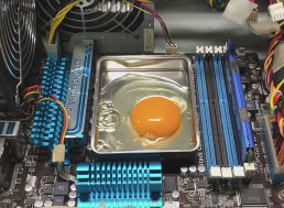 YouTuber Cracks up an Egg and Fries It on a Hot Computer Hardware
