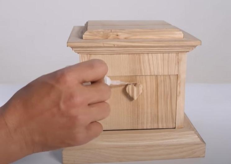 antique wood phone prism knob