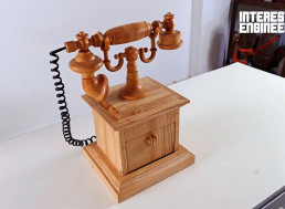 Make Your Own Antique Rotary Phone Completely out of Wood