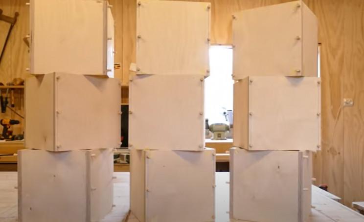 diy transforming bookshelf boxes
