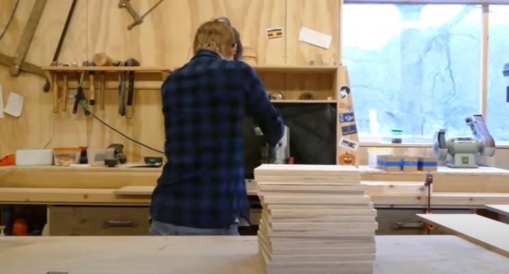 diy transforming bookshelf squares