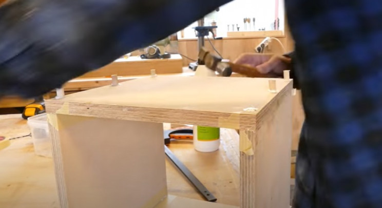 diy transforming bookshelf fill holes