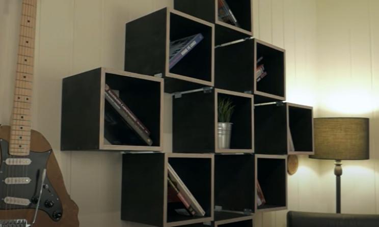 diy transforming bookshelf complete