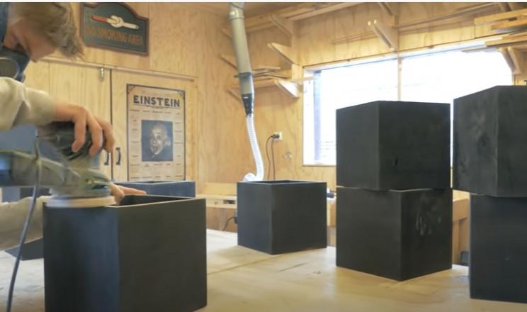diy transforming bookshelf sand boxes
