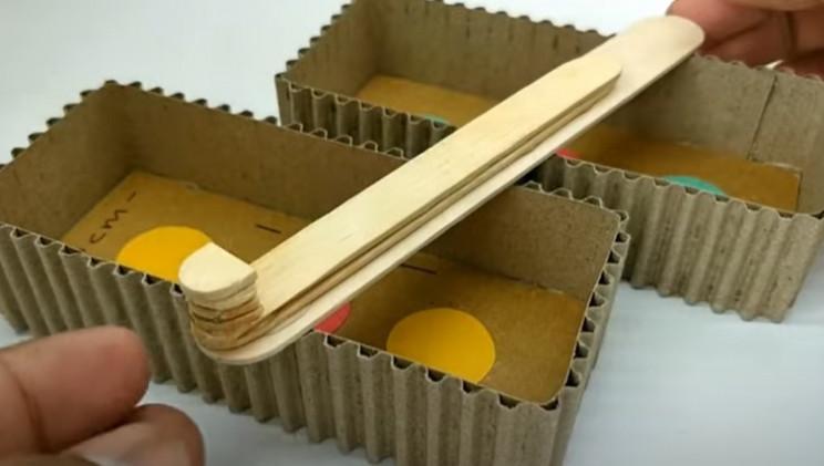 diy cardboard game 2 paddle
