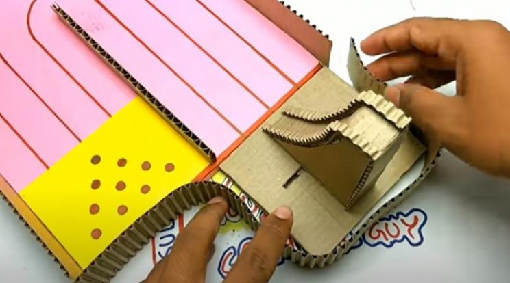 diy cardboard game 3 bottom wall