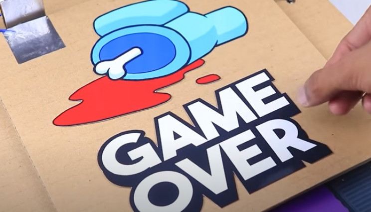 among us game over decals