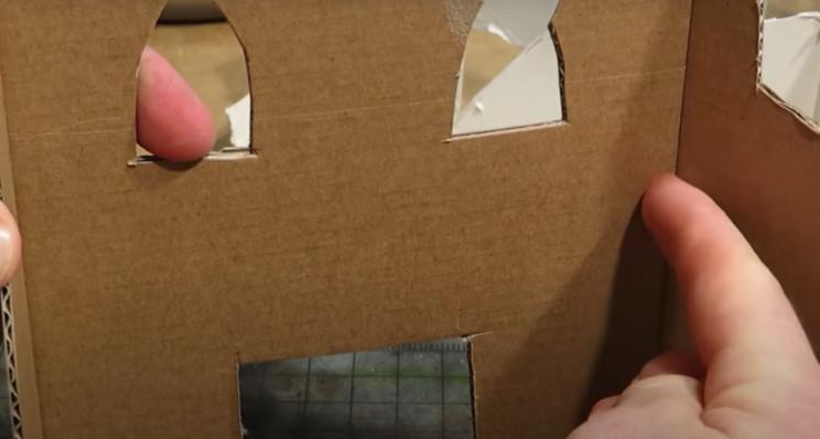 diy model terrain cardboard