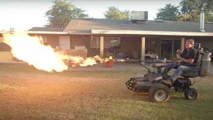 Engineer Designs World's Coolest Flame-Throwing Wheelchair