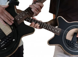 Man Builds Drum Machine Inspired Turntable Electric Guitar