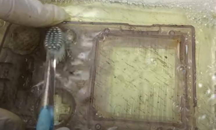 gameboy color restore clean casings