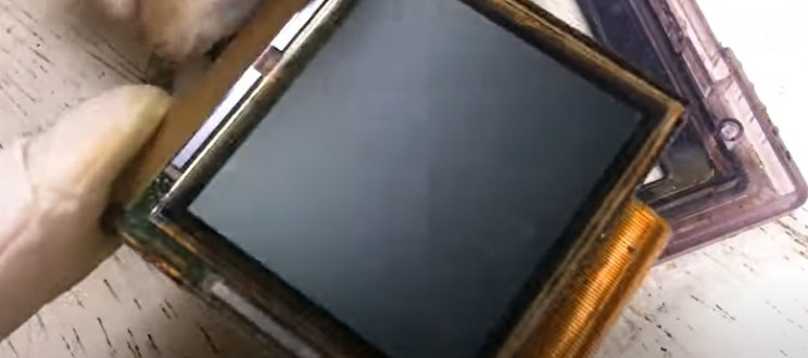 diy gameboy restore remove monitor