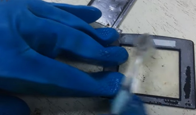 restore gamboy screen cover clean