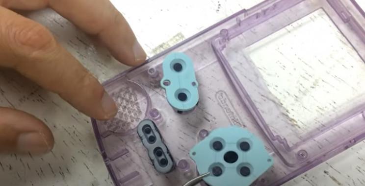 diy gameboy restore add back soft buttons
