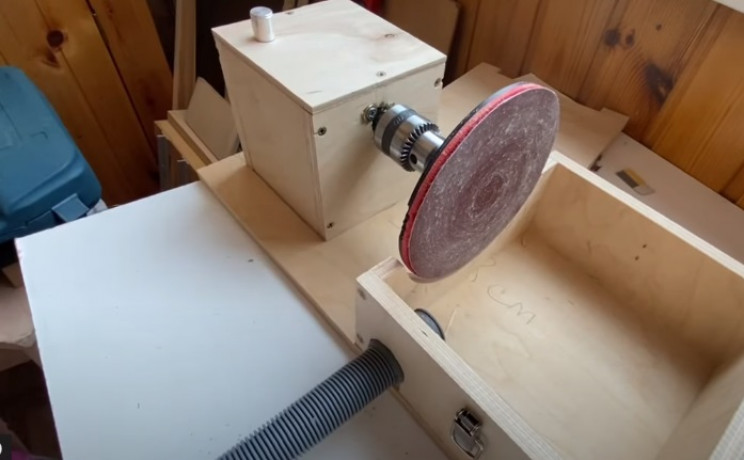 diy disc sander extract tubing