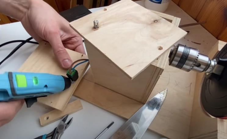 diy disc sander glue controls