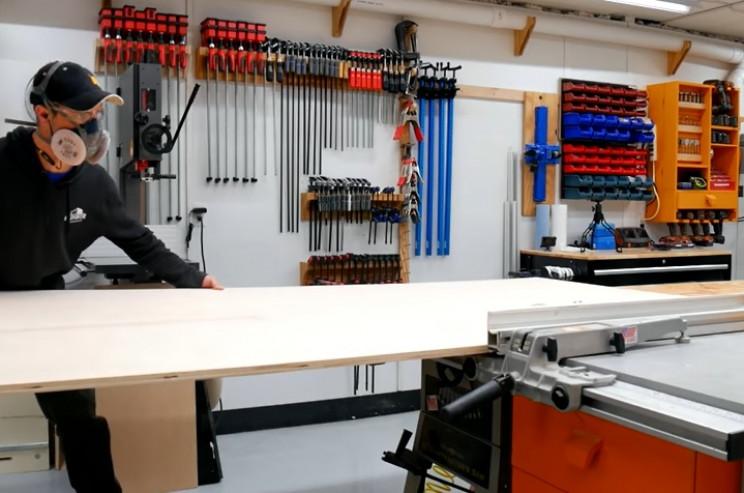 DIY dresser cut wood