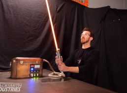 YouTubers Build World's First Protosaber: a Real Burning Star Wars Lightsaber