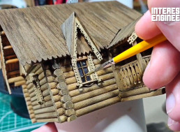 Build Your Own Scale Model Wooden Log Cabin House