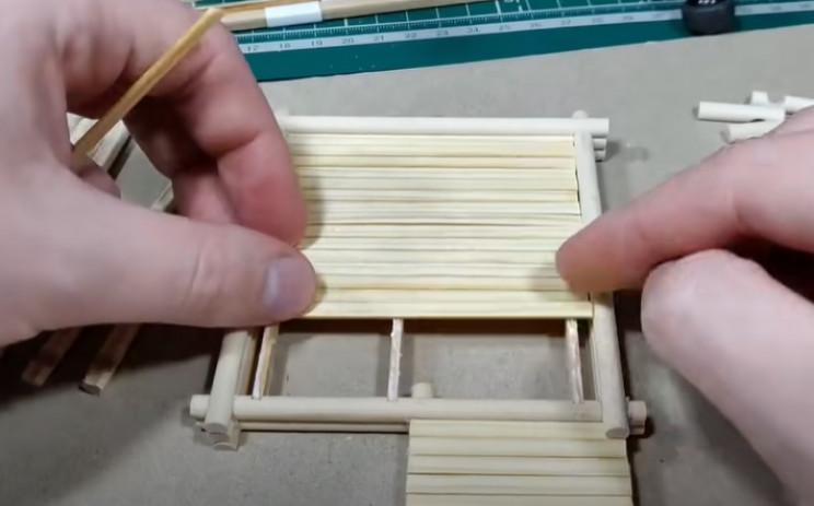 diy wood house floorboards