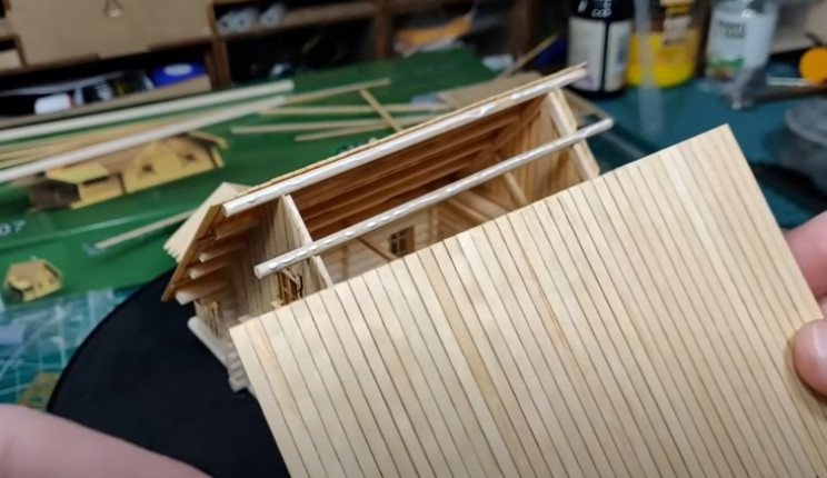 diy wooden house main roof