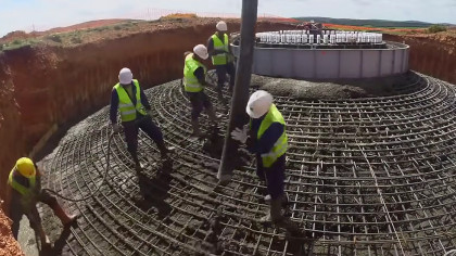 Watch Builders Install 250-Feet Wind Turbine from Scratch
