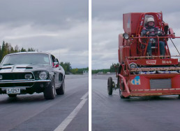 Shelby GT 350 Faces Combine Harvester in Ridiculous Drag Race