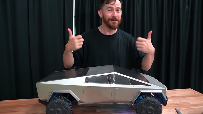 YouTuber 3D Prints Remote-Controlled Baby Tesla Cybertruck