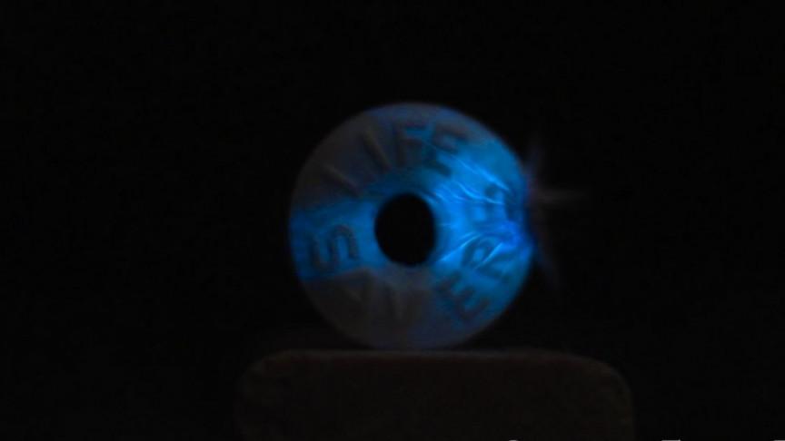 Life Saver Candy Lights up like Lightning When Smashed